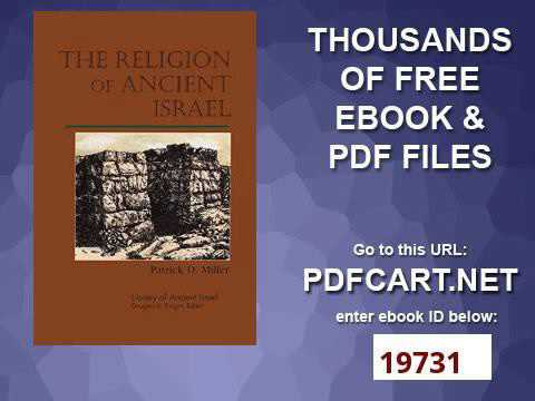 The Religion of Ancient Israel Library of Ancient Israel