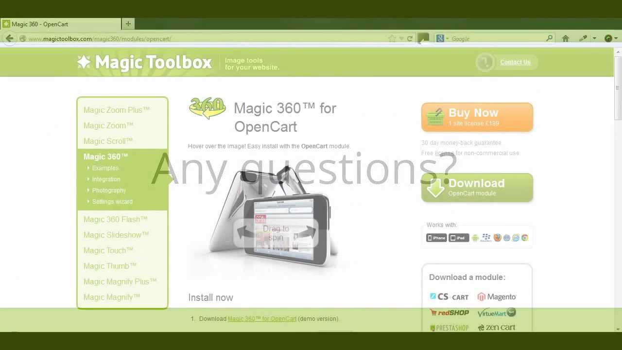 Magic 360 - OpenCart 360° Product Viewer Extension  Top