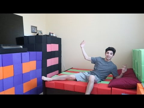REPLACING MY ENTIRE BEDROOM WITH THE FOAM PIT!! | FaZe Rug