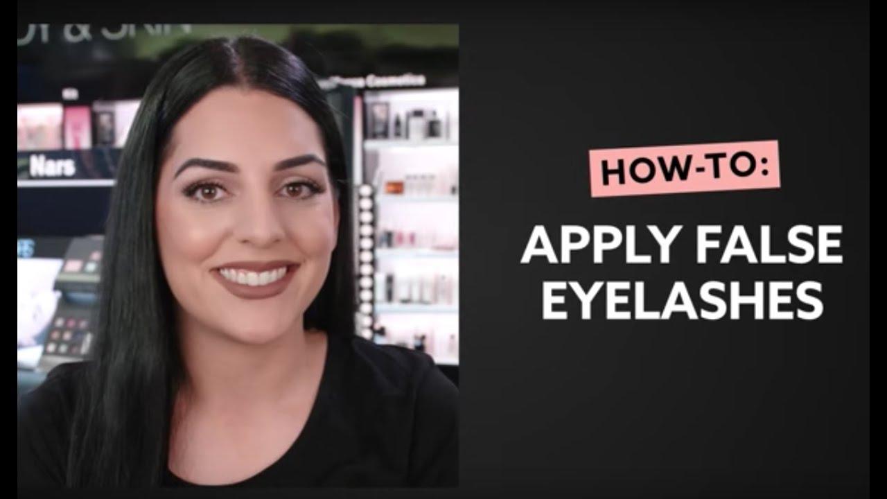 f98b163735e How To: Apply False Lashes | MECCA Beauty Junkie - YouTube
