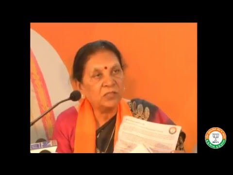 Press Conference by Smt Anandiben Patel in Ahmedabad, Gujarat