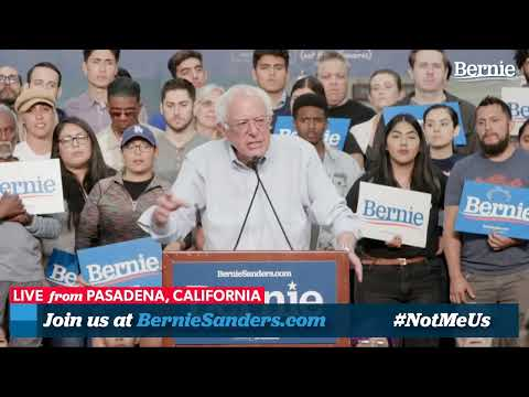 Join Bernie Sanders for a Rally in Pasadena, California