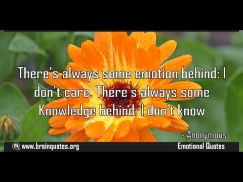 Quotes With Meaning Enchanting There's Always Some Emotion Behind I Don't Care Quote Meaning YouTube