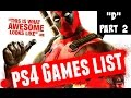 """Showing All """"D"""" PlayStation 4 Games (Part 2) PS4 Video Games List"""