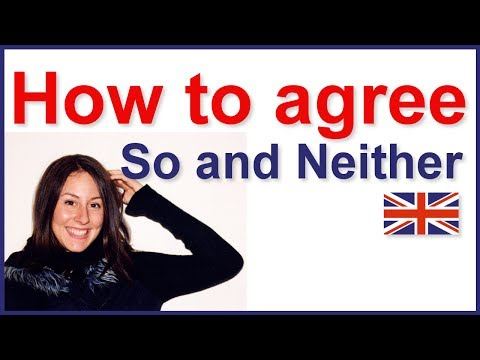 How to agree in English | Grammar lesson