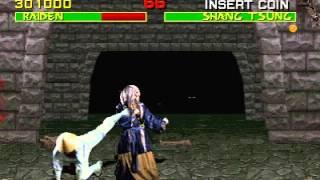 Mortal Kombat (Arcade) Raiden vs Shang Tsung reset glitch