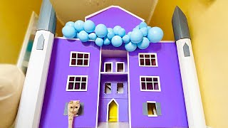 Building 5 FLOORS  Kitten Cat Pet House from Cardboard! How to make house for cat from Cardboard.