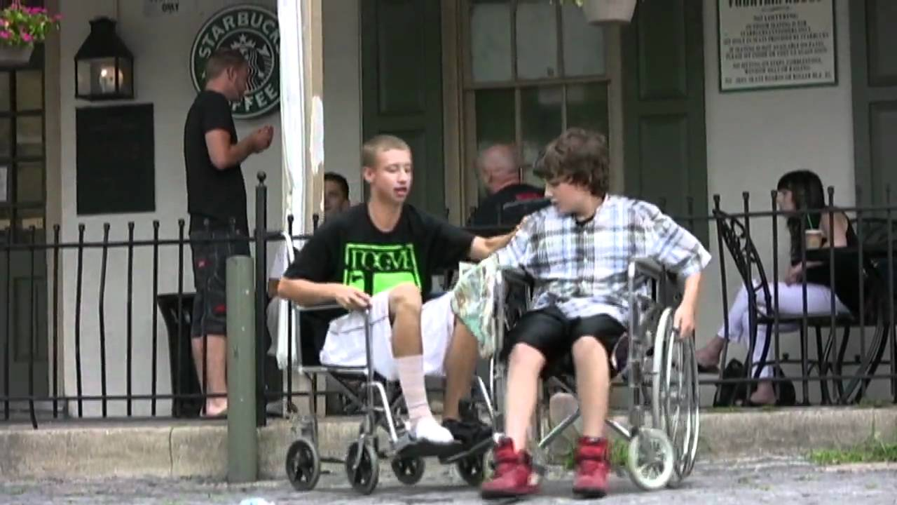 wheelchair fight zebra crossing prank youtube