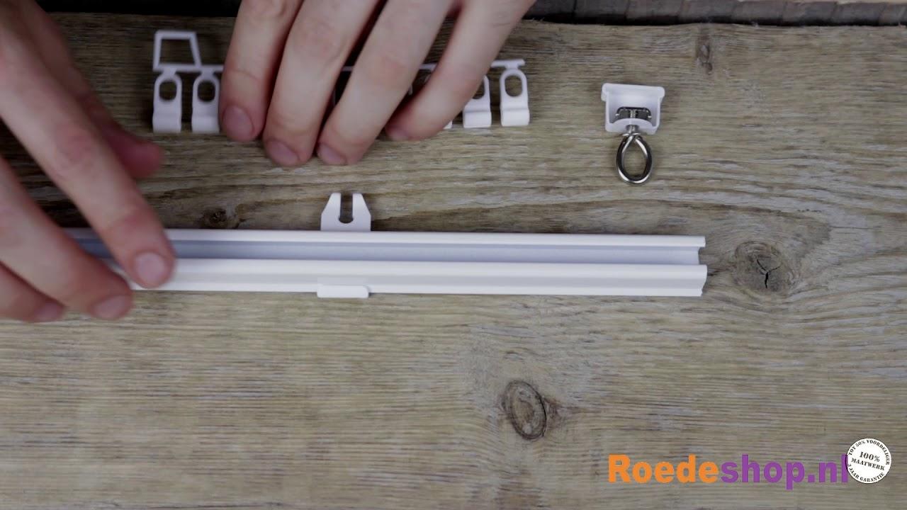 Praxis Gordijn 5 : U rail gordijnrails onderdelen bevestigen zo doe je dat