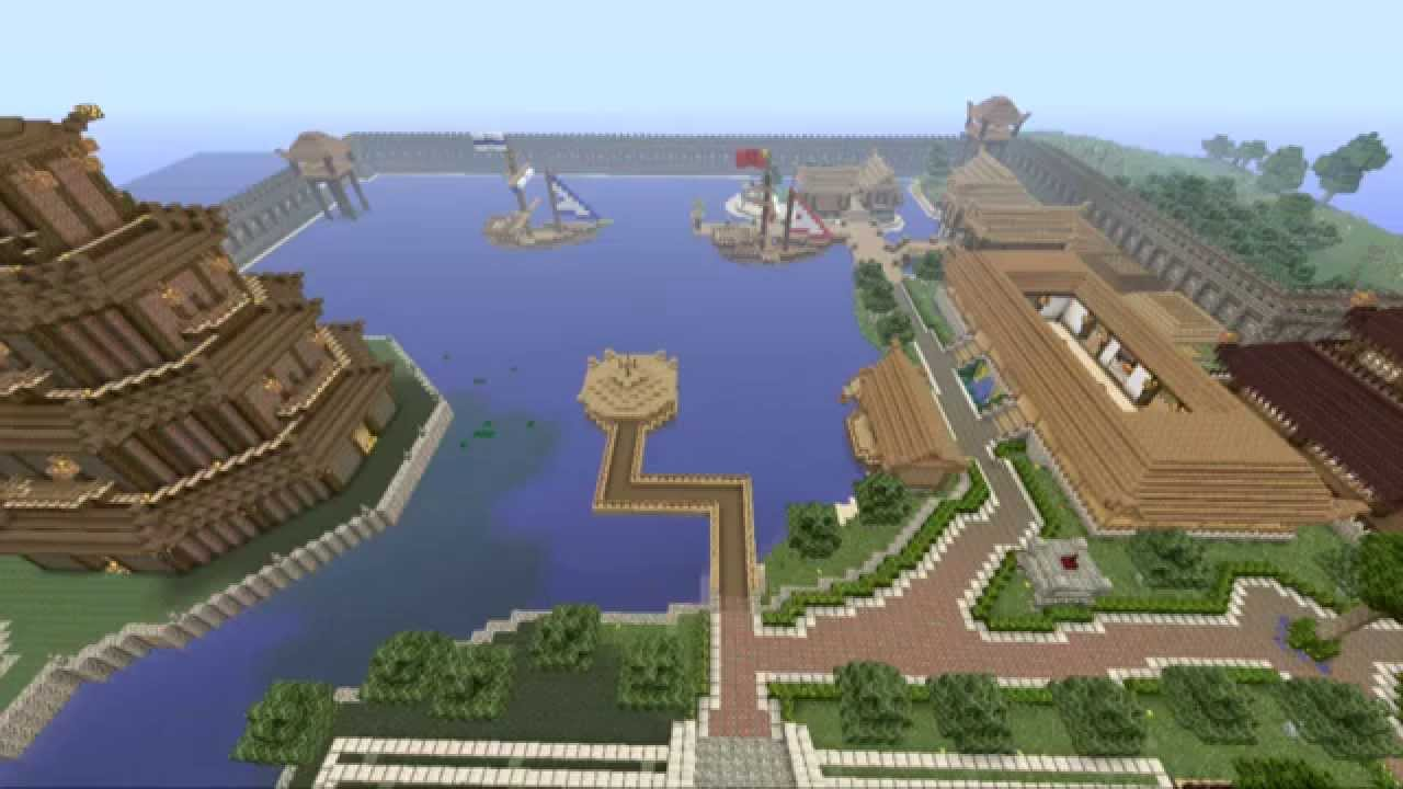 Minecraft PS3 Ancient Asian Hunger Games
