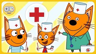 Три Кота Доктор - Лечим котиков. Карамелька, Коржик и Компот спасают друзей. мультик игра для детей