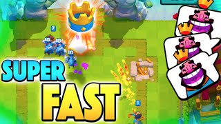 FASTEST 3 CROWN EVER! - Clash Royale - Super Fast Noob 3 Crown Attack!