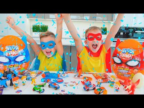 Vlad and Niki pretend play Superheroes kids and save Chris