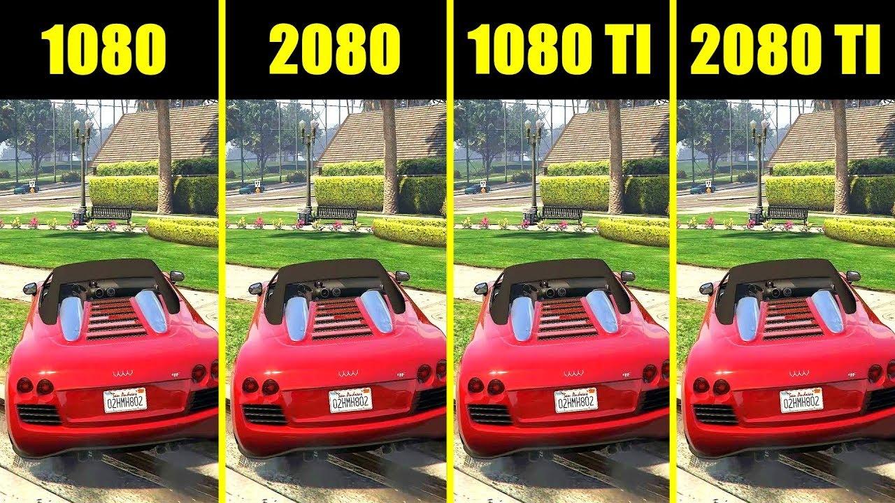 GTA 5 RTX 2080 TI Vs RTX 2080 Vs GTX 1080 TI Vs GTX 1080 Frame Rate  Comparison
