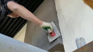 Подготовка фасадов к нанесению декоративной штукатурки, дом утеплён минеральной ватой 250мм