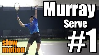Andy Murray in Super Slow Motion | Serve #1 | Western & Southern Open 2014