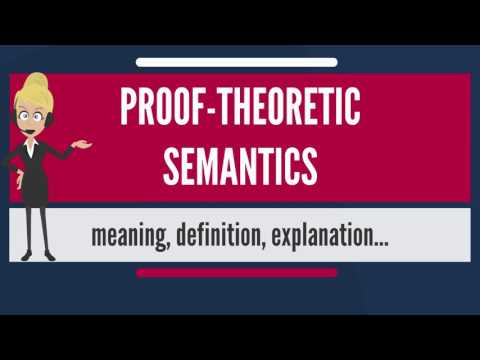 What is PROOF-THEORETIC SEMANTICS? What does PROOF-THEORETIC SEMANTICS mean