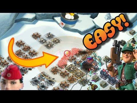 Boom Beach: EASY War Factory! Sgt. Brick HERO Strategy!