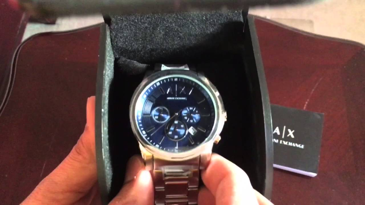 62e07f75f214 Men s Armani Exchange Chronograph Watch AX 2509 Unboxing Review - YouTube