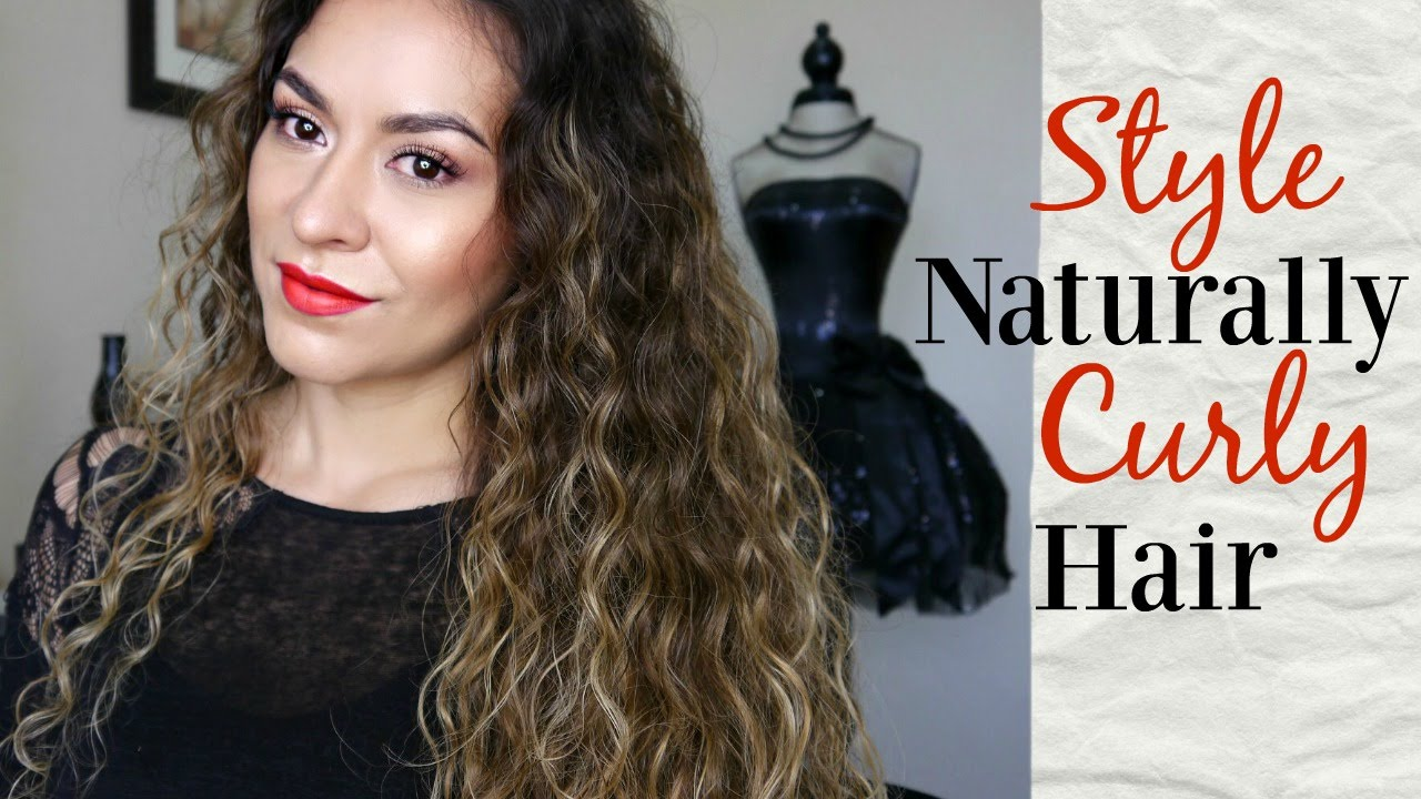 how to style naturally curly/wavy hair | john frieda frizz ease hair tutorial