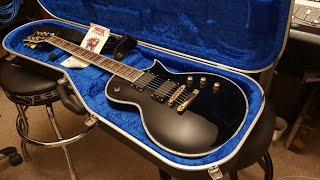 ESP LTD ECLIPSE EC-1000 BLACK BEAUTY LES PAUL ABALONE PURFLING EMG 81 60 GUITAR UP CLOSE REVIEW