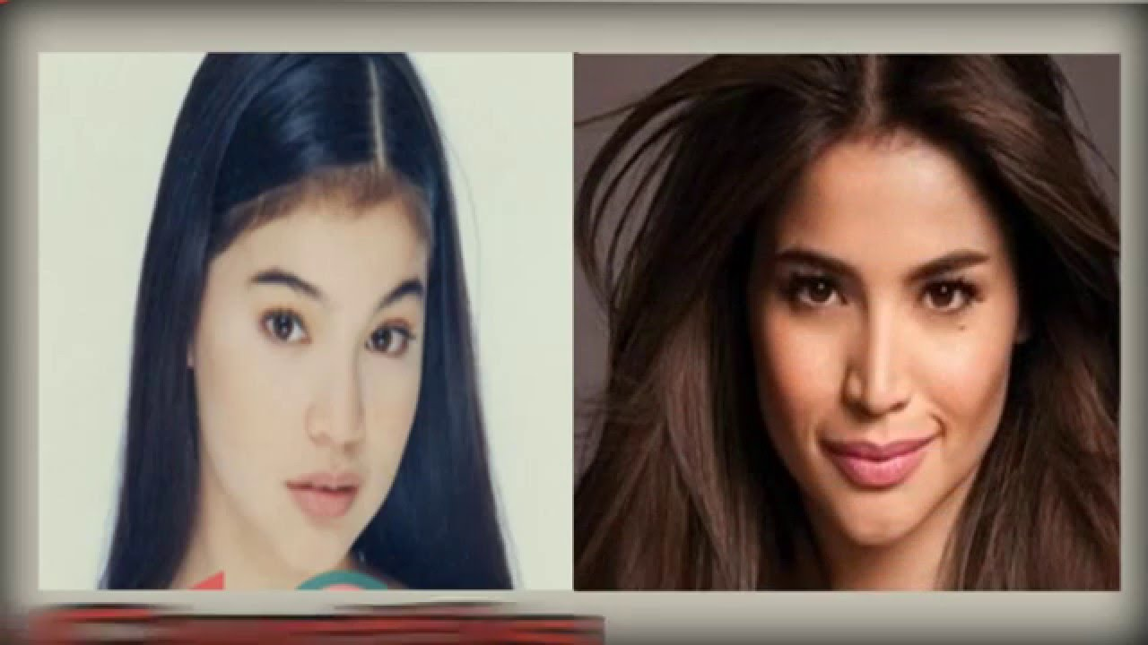 pinay celebrities before and after makeup - wavy haircut