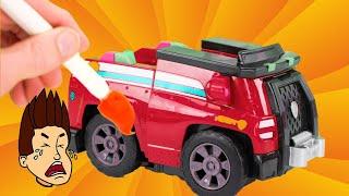 Paw Patrol वाहन अपग्रेड गलत रंगों से पेंट हो जाते हैं!
