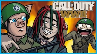 Call of Duty: World War II Funny Moments! - Lil Pump, Gucci Gang Country Cover, LEGIQN Freestyle! thumbnail