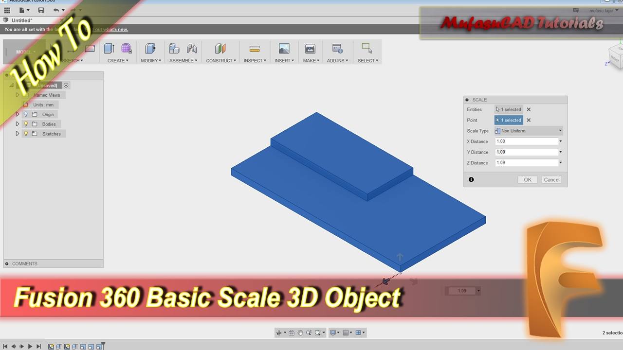 Fusion 360 How To Scale 3D Object