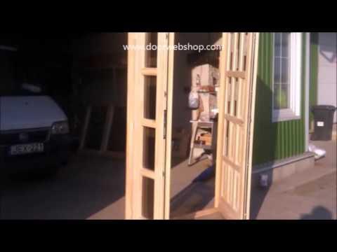 Zweiflugelige Holz Nebeneingangstur Amor Youtube