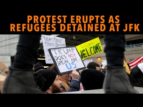 Protest Erupts as Refugees Are Detained at JFK