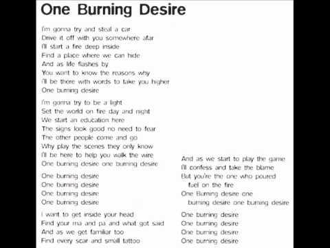 Hugh cornwell one burning desire lyrics youtube for Desire miroir miroir lyrics