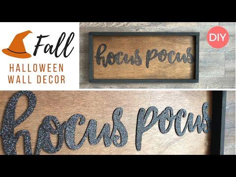 Hocus Pocus Wood Framed Decor | Quick & Easy | Halloween DIY | Ashleigh Lauren