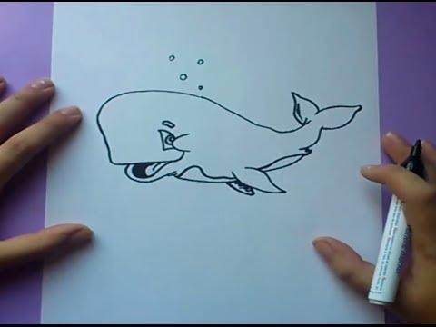Worksheet. Como dibujar una ballena paso a paso 2  How to draw a whale 2