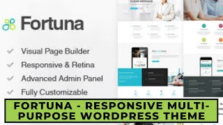 Fortuna Wordpress Theme Review & Demo | Responsive Multi-Purpose WordPress Theme | Fortuna Price & How to Install