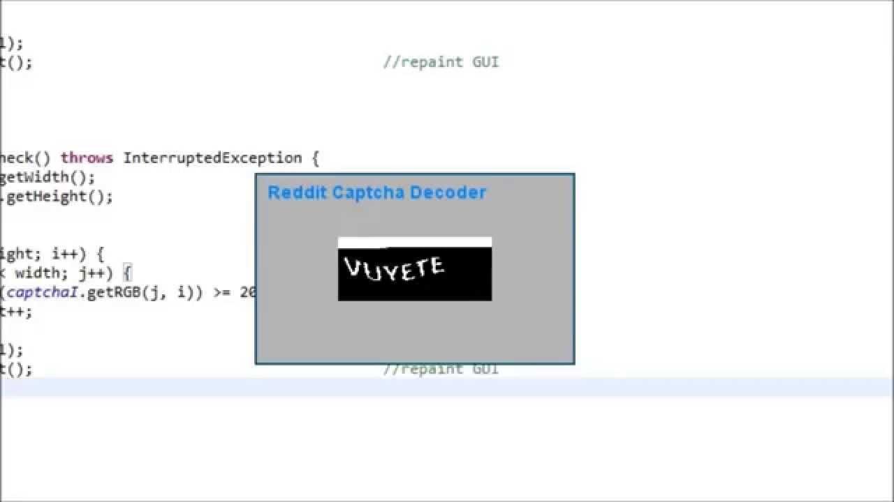 Java - Reddit Captcha Decoder - YouTube