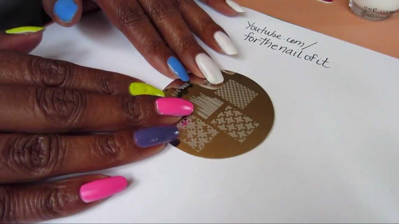 Testing Bundle Monster Nail Stamping Plates - Set 3 *NEW 2012* - YouTube