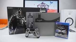 PLAYSTATION 4 Arkham Knight Bundle UNBOXING!(Unboxing the brand new PS4 Arkham Knight Limited Edition Bundle! This thing comes with 500GB, Batman Arkham Knight and The Last of Us Remastered., 2015-06-25T11:38:25.000Z)