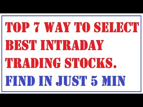 how to select best intraday trading stocks | best intraday stock selection strategy