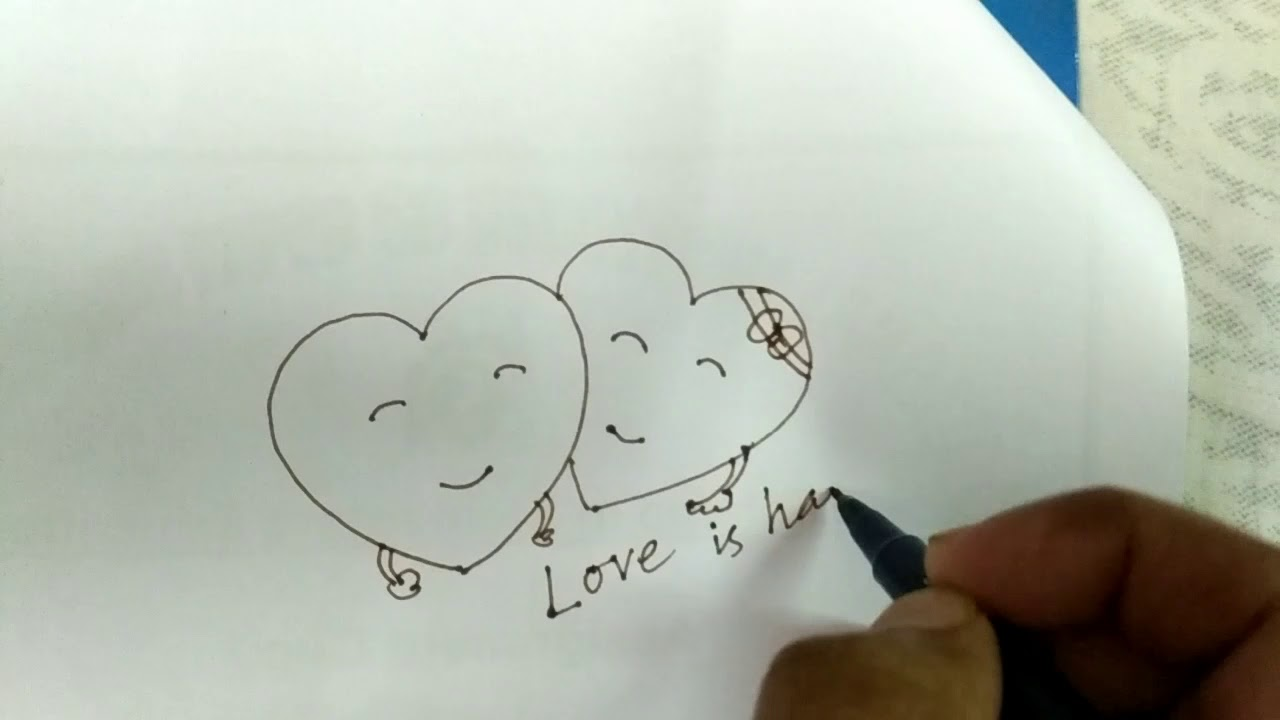 Easy heart touching drawing