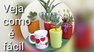 Como Furar Caneca para plantar Suculentas