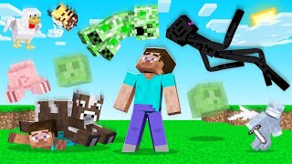 Surviving MINECRAFT But It's RAINING MOBS! (impossible)