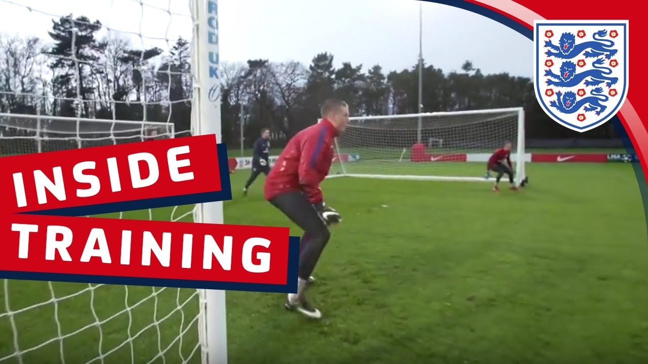 Group training drill with the England U21 Goalkeepers | Inside Training