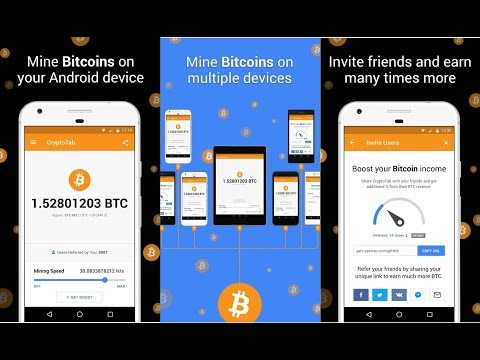 Live Withdrawal.Free Bitcoin Mobile Mining Earn 1 BTC(9000$) Easily! CryptoTab New Updates