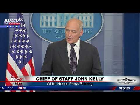 "EMOTIONAL: John Kelly: ""Stunned By Florida Congresswoman's Actions Towards President Trump"