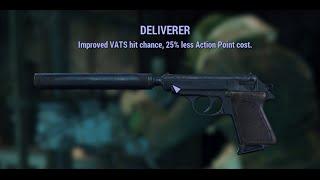 Fallout 4 UNIQUE RARE WEAPON Deliverer Pistol