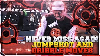 GLITCHY RARE GREEN JUMPSHOT IN 2K18! BEST JUMPSHOT & DRIBBLE MOVES AFTER PATCH 10 😤 ISO RAW MIX