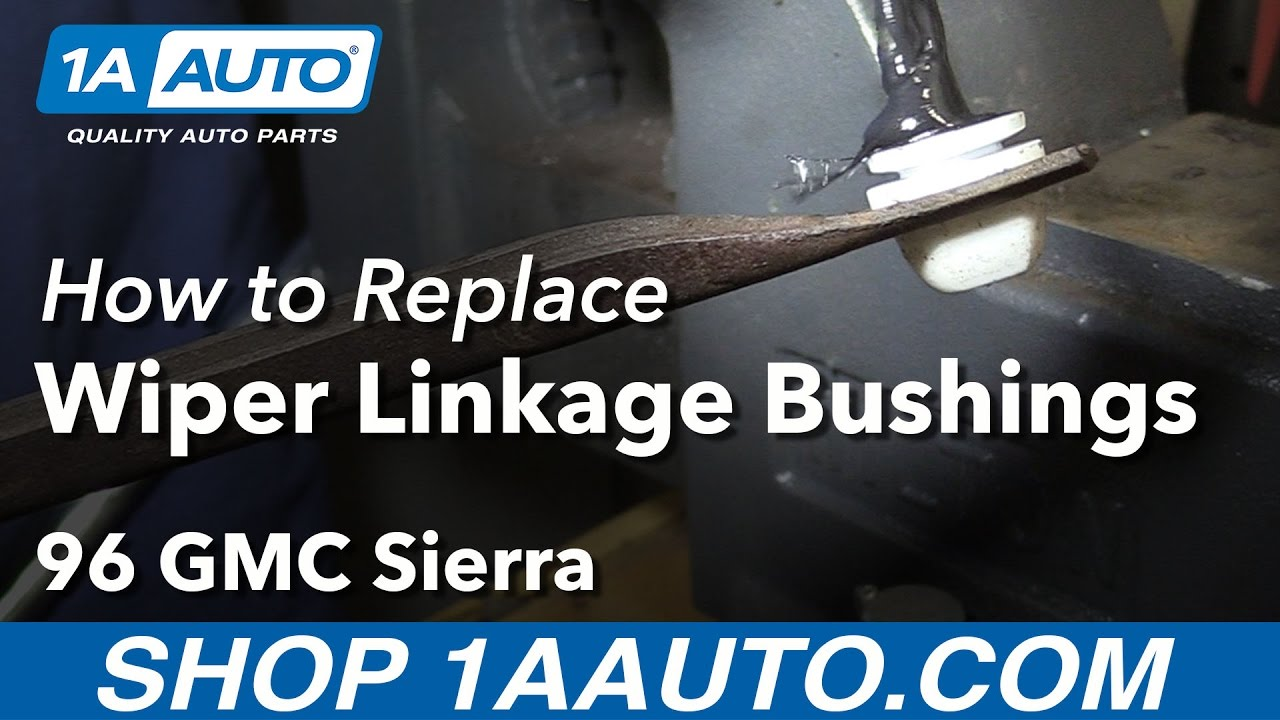 hight resolution of how to replace wiper linkage bushings 88 99 gmc sierra k1500