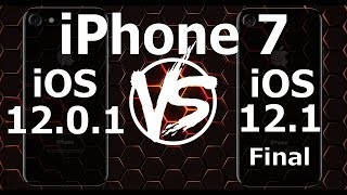 iPhone 7 : iOS 12.1 Final vs iOS 12.0.1 Speed Test (Build 16B92 / 16B93)