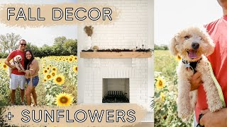 Decorating for FALL and we went to the sunflower fields! | ELA BOBAK